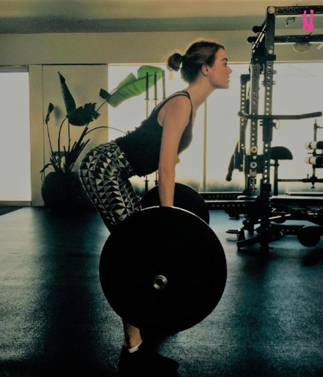 Emma Stone Exercise